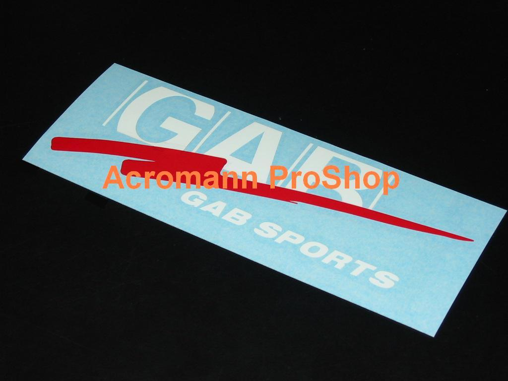 GAB Sports 6inch decal (Style#1) x 2 pcs
